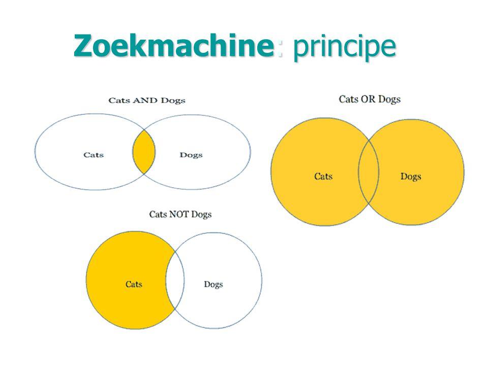 Zoekmachine: principe