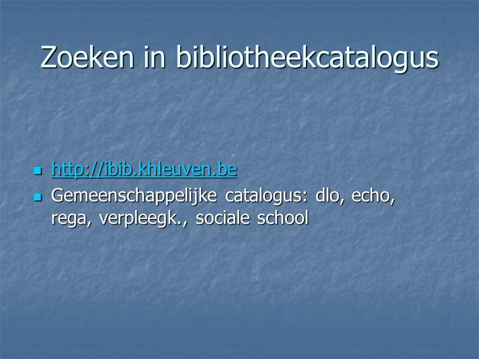 Zoeken in bibliotheekcatalogus