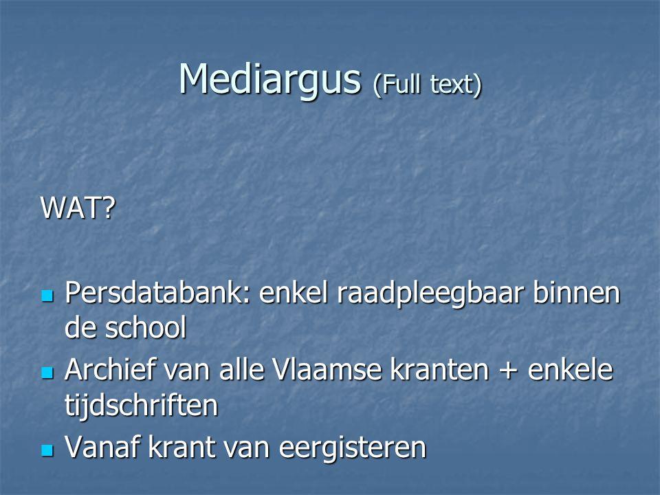 Mediargus (Full text) WAT