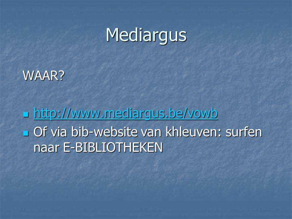 Mediargus WAAR http://www.mediargus.be/vowb