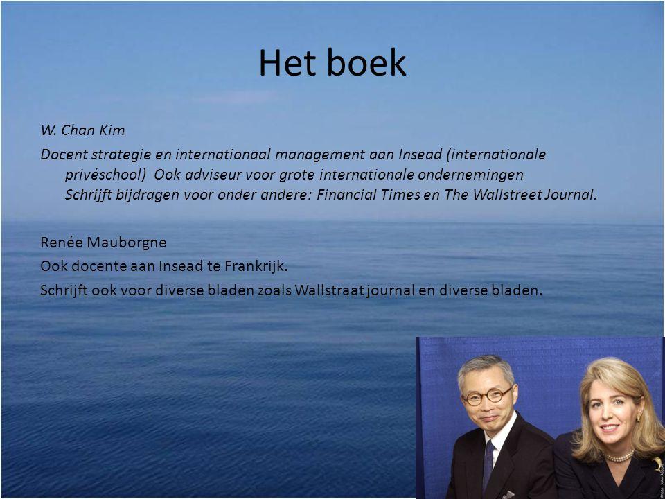 Het boek W. Chan Kim.