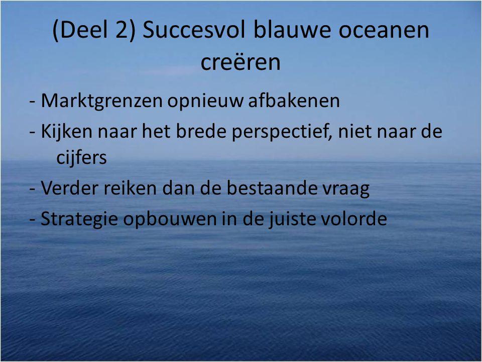 (Deel 2) Succesvol blauwe oceanen creëren