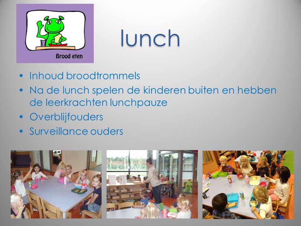 lunch Inhoud broodtrommels