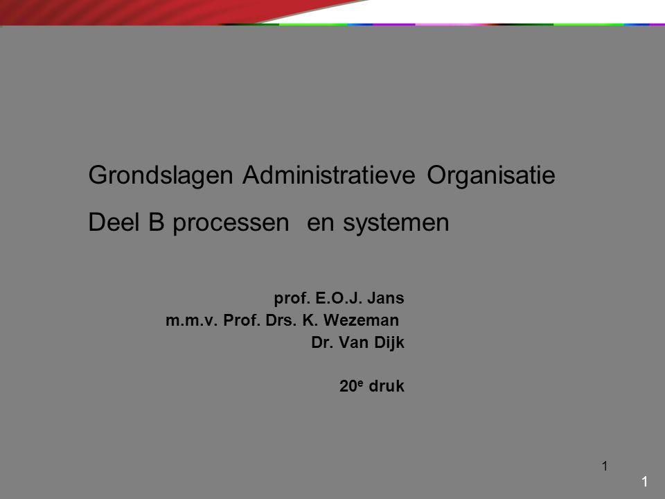 prof. E.O.J. Jans m.m.v. Prof. Drs. K. Wezeman Dr. Van Dijk 20e druk