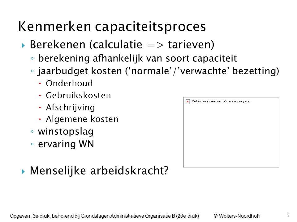 Kenmerken capaciteitsproces
