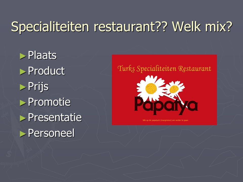 Specialiteiten restaurant Welk mix