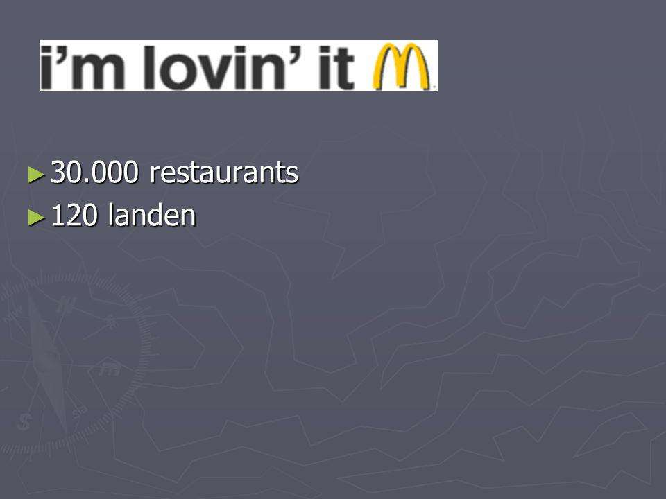 30.000 restaurants 120 landen