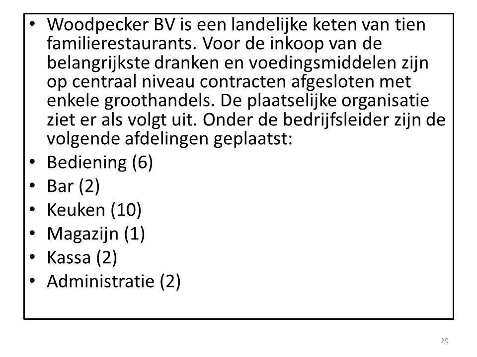 Woodpecker BV is een landelijke keten van tien familierestaurants