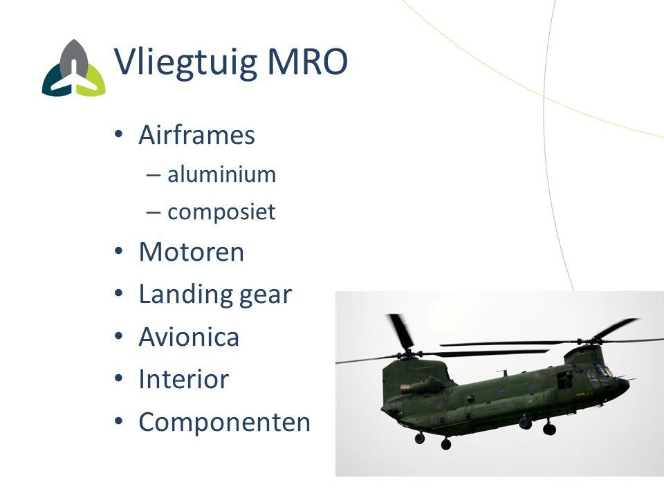 Vliegtuig MRO Airframes Motoren Landing gear Avionica Interior