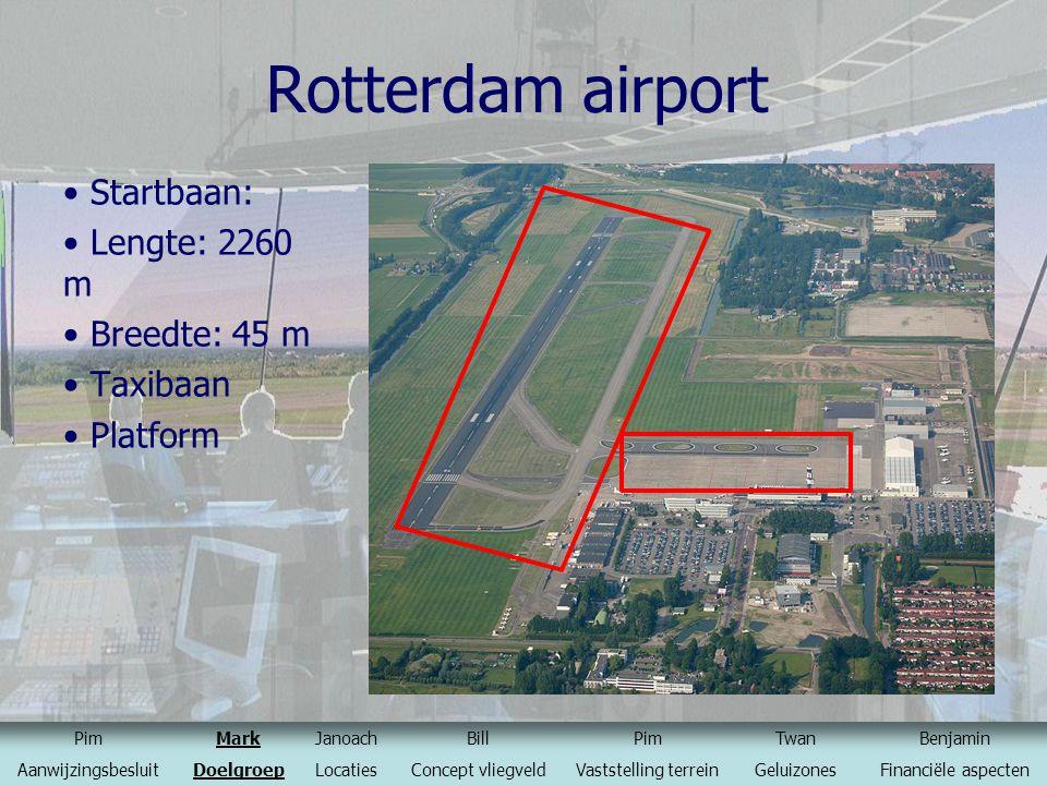 Rotterdam airport Startbaan: Lengte: 2260 m Breedte: 45 m Taxibaan