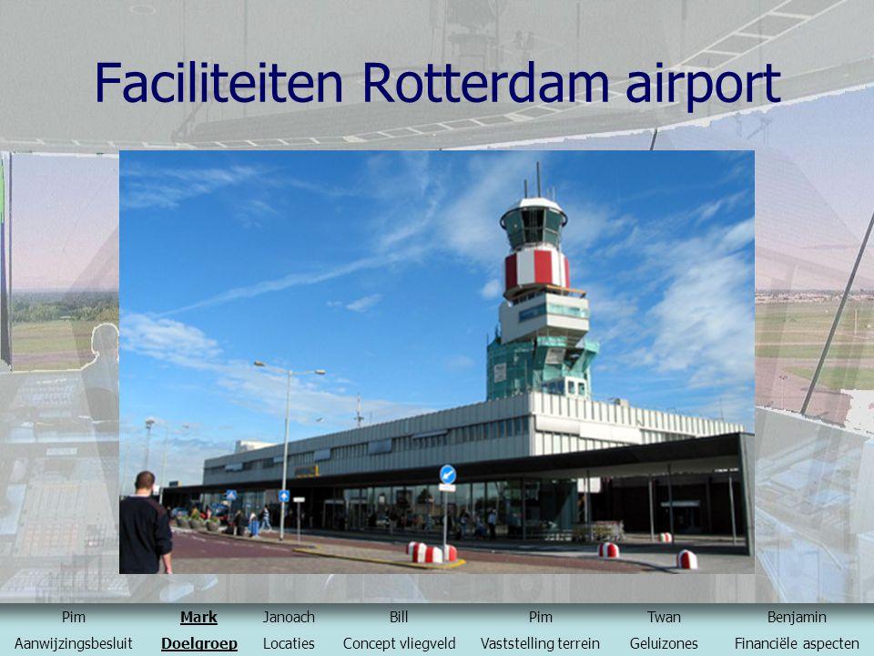 Faciliteiten Rotterdam airport