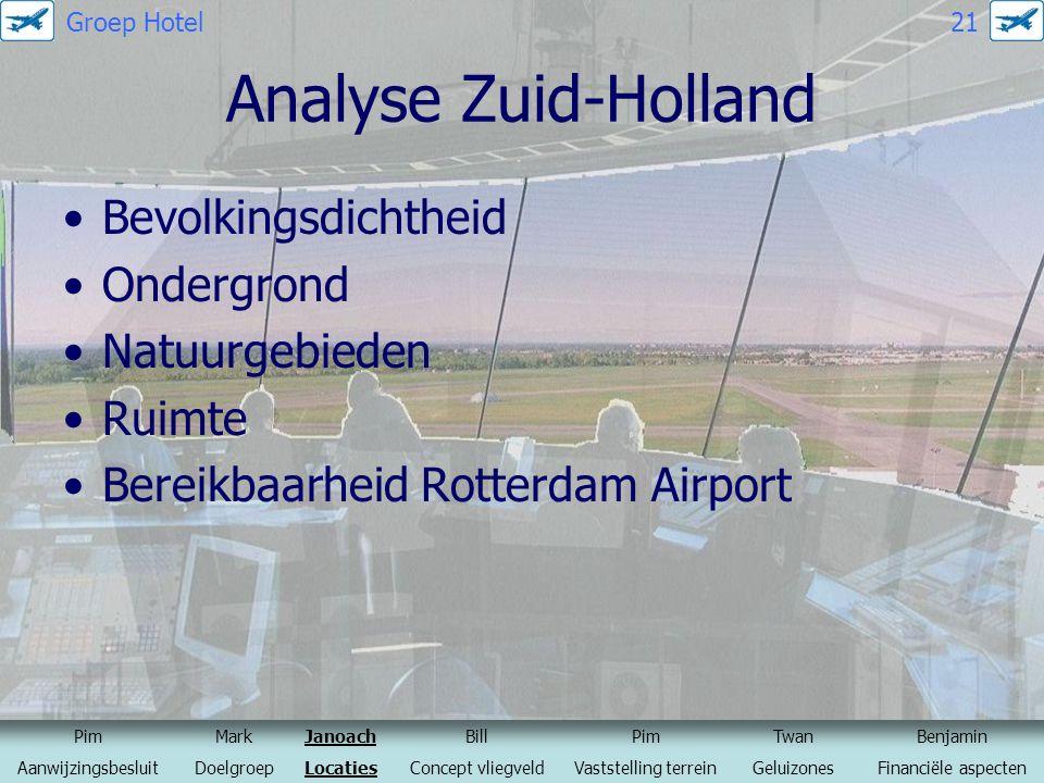Analyse Zuid-Holland Bevolkingsdichtheid Ondergrond Natuurgebieden