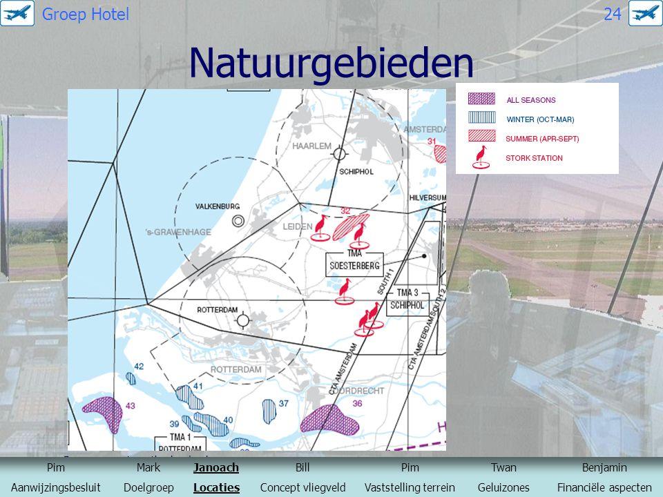 Natuurgebieden Groep Hotel 24 Bron: www.ais-netherlands.nl Pim Mark