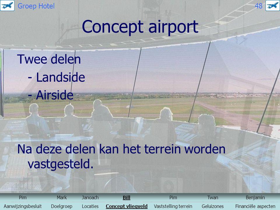 Concept airport Twee delen - Landside - Airside