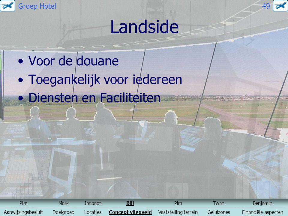 Landside Voor de douane Toegankelijk voor iedereen