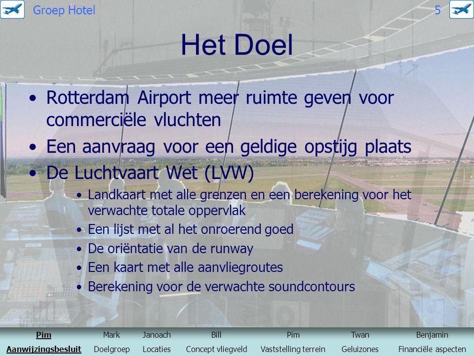 Het Doel Rotterdam Airport meer ruimte geven voor commerciële vluchten