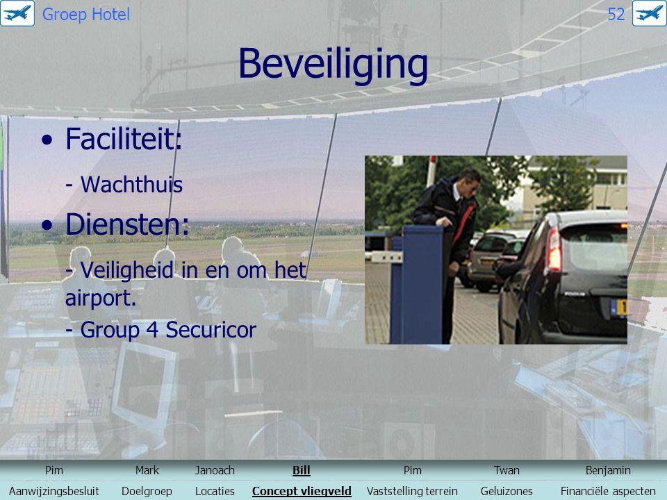 Beveiliging Faciliteit: - Wachthuis Diensten:
