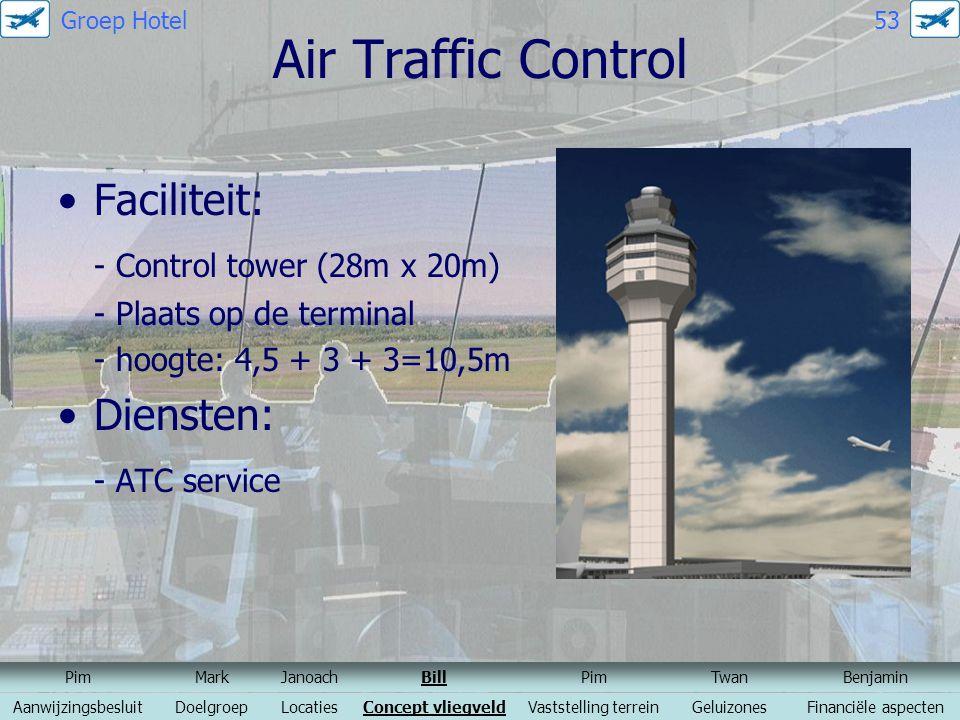 Air Traffic Control Faciliteit: - Control tower (28m x 20m) Diensten: