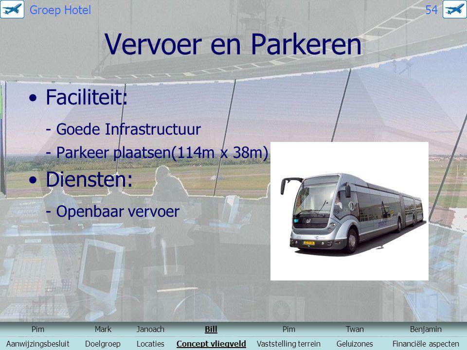 Vervoer en Parkeren Faciliteit: - Goede Infrastructuur Diensten: