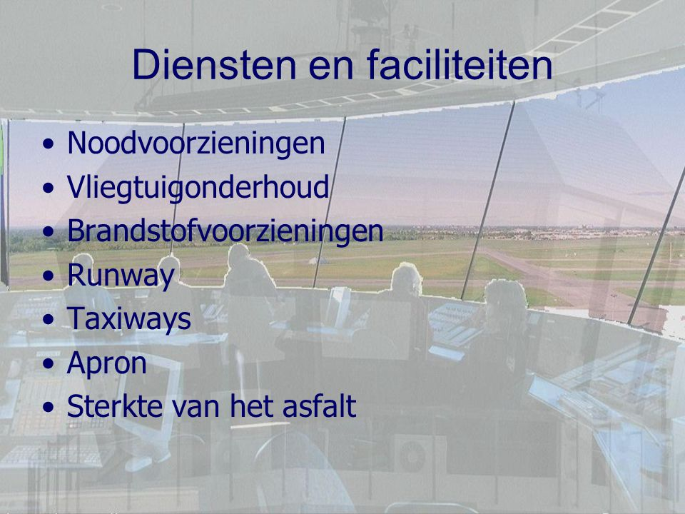 Diensten en faciliteiten