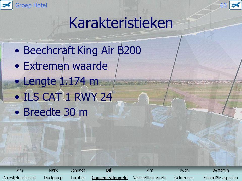 Karakteristieken Beechcraft King Air B200 Extremen waarde