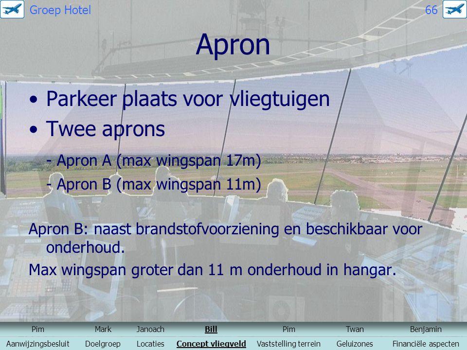 Apron Parkeer plaats voor vliegtuigen Twee aprons