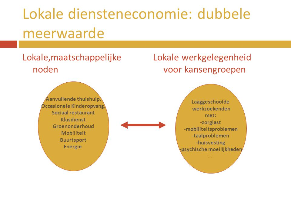 Lokale diensteneconomie: dubbele meerwaarde