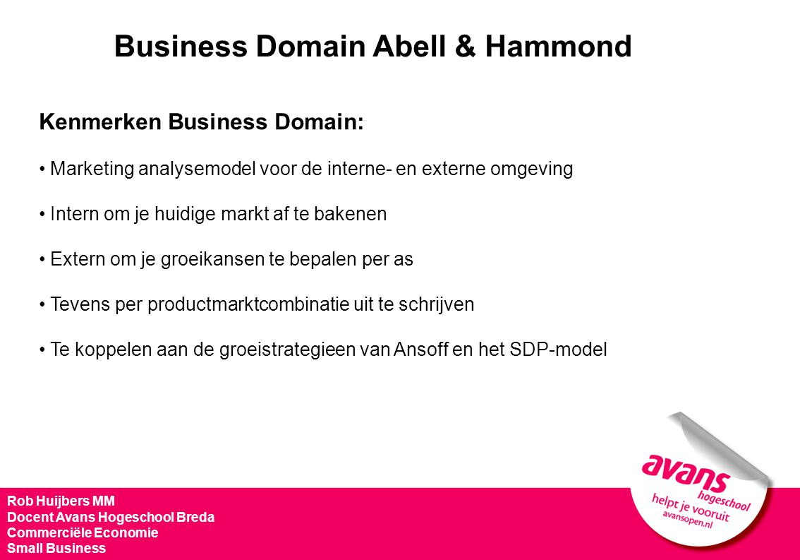 Business Domain Abell & Hammond
