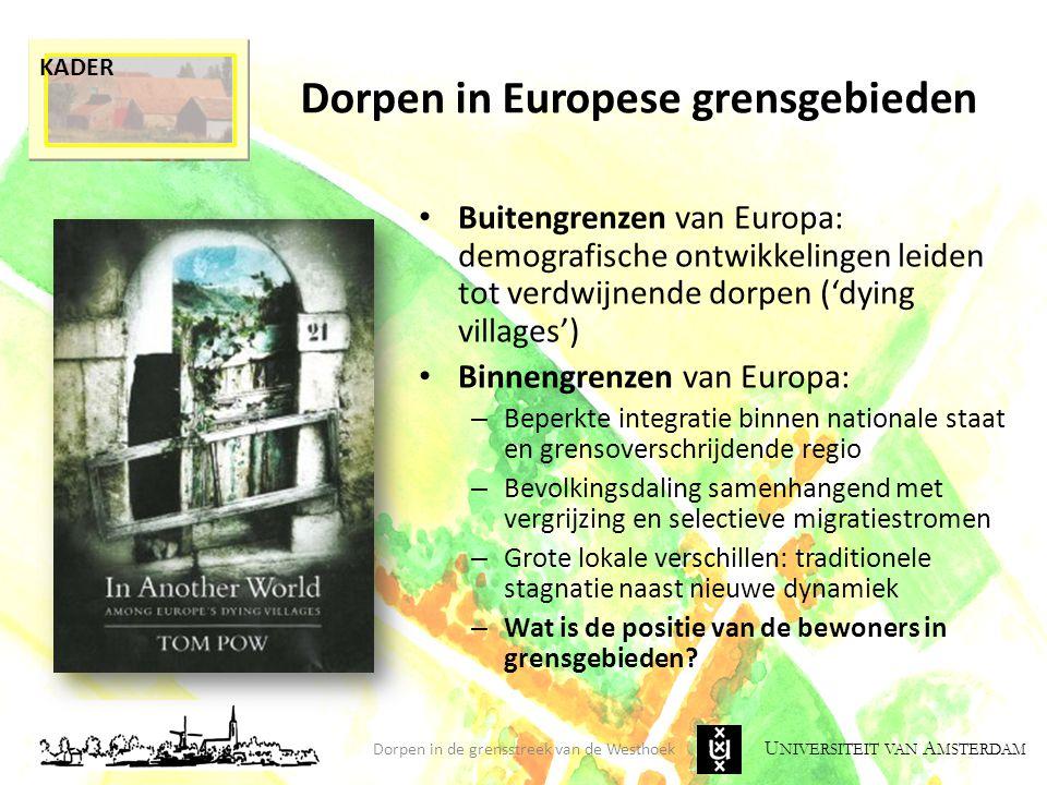 Dorpen in Europese grensgebieden