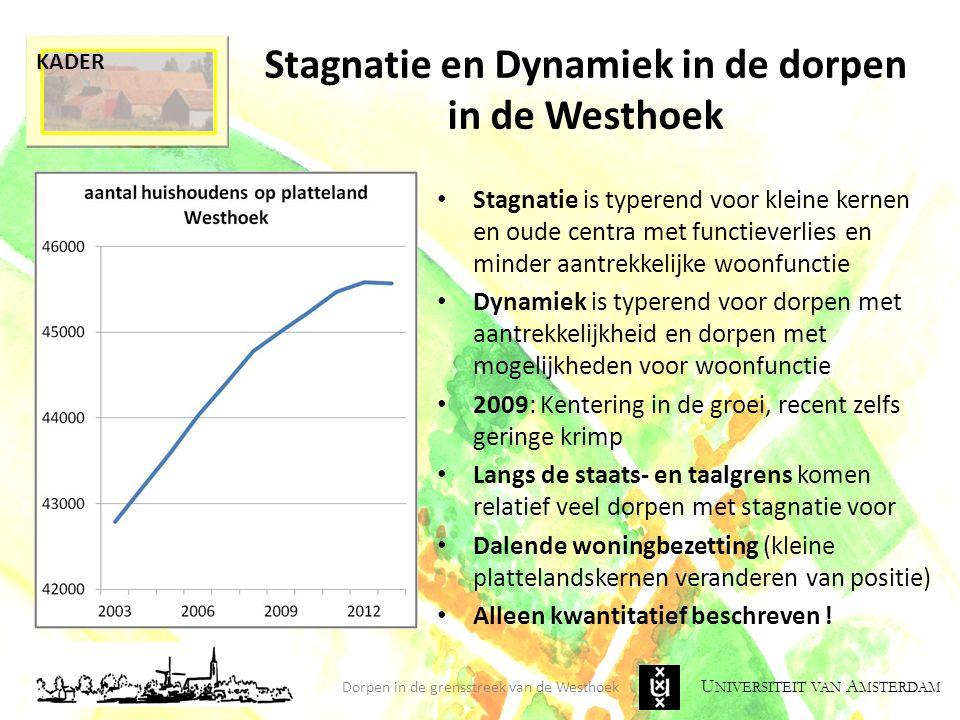 Stagnatie en Dynamiek in de dorpen in de Westhoek
