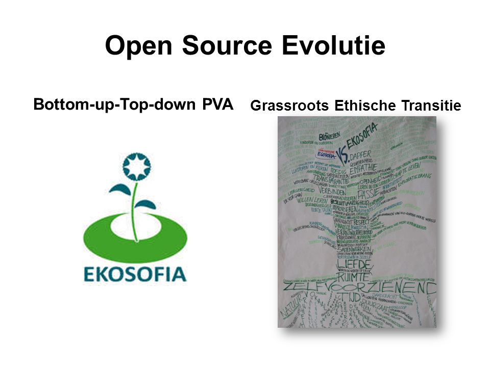 Open Source Evolutie Bottom-up-Top-down PVA