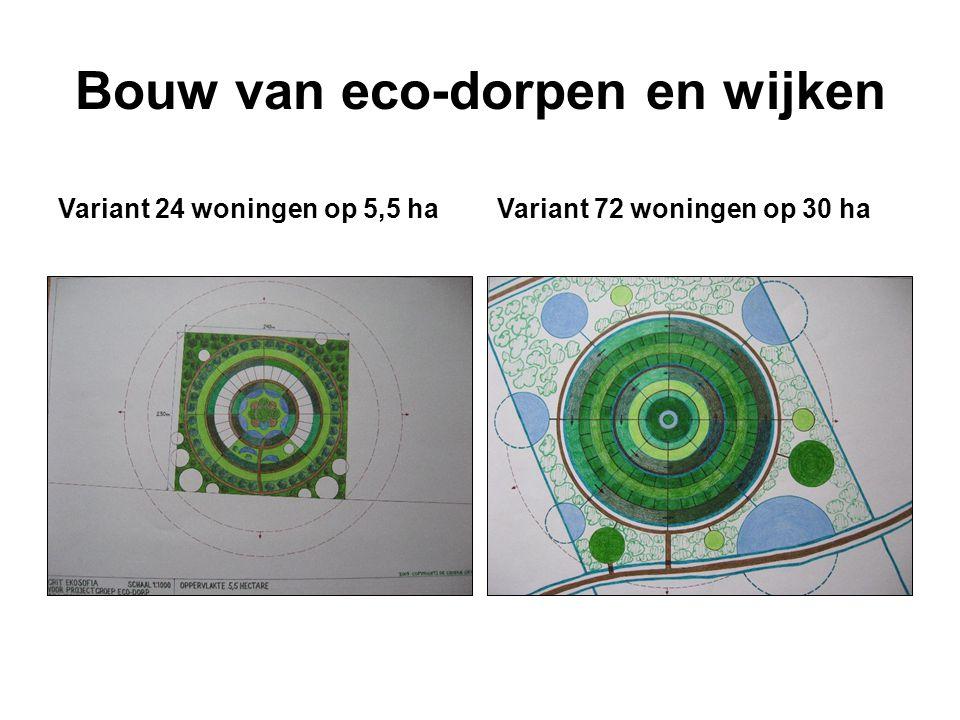Bouw van eco-dorpen en wijken