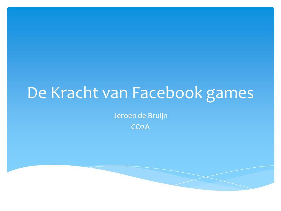 De Kracht van Facebook games