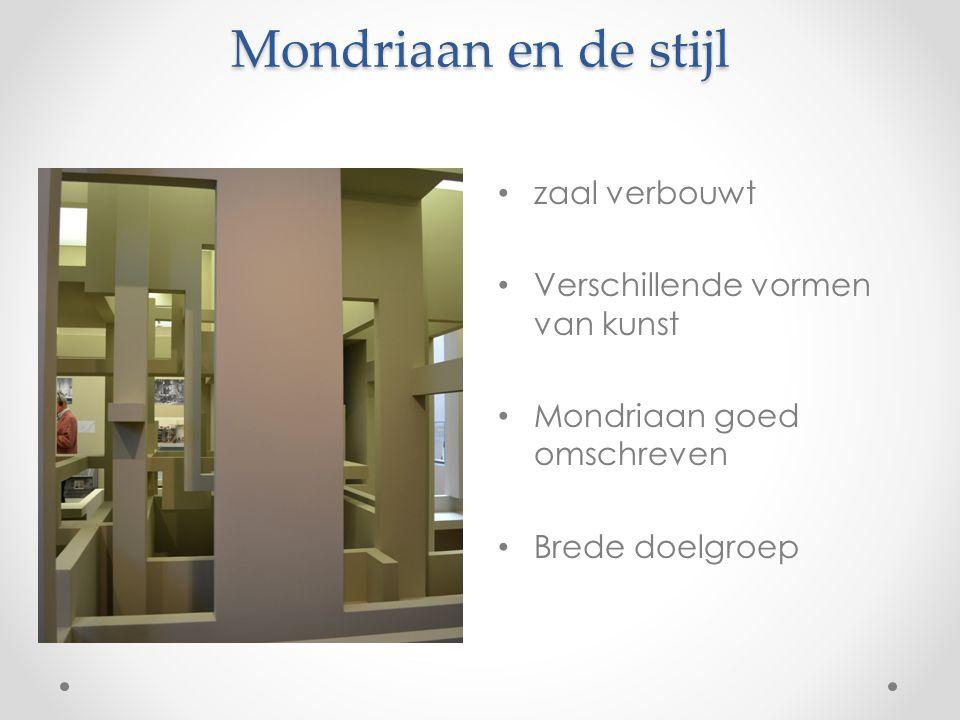 Mondriaan en de stijl zaal verbouwt Verschillende vormen van kunst