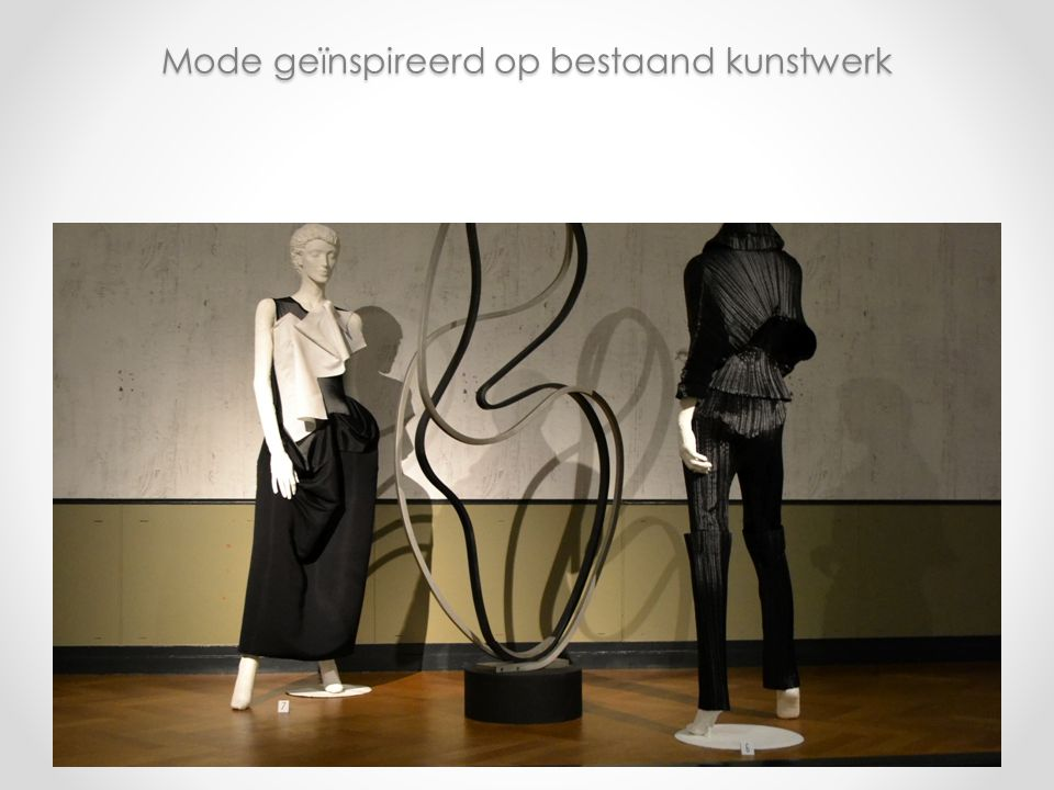 Mode geïnspireerd op bestaand kunstwerk