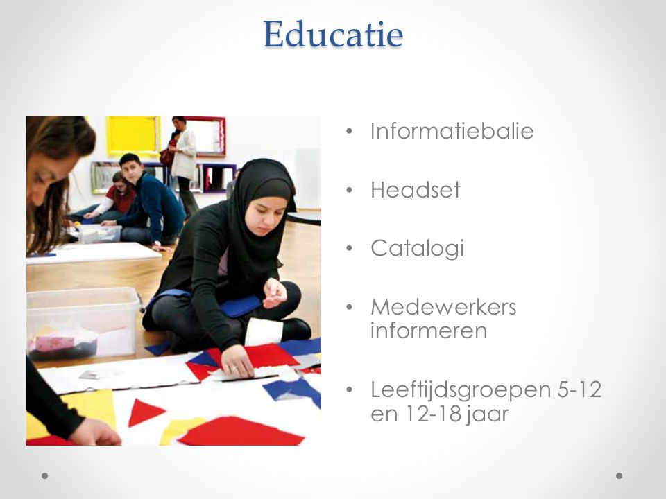 Educatie Informatiebalie Headset Catalogi Medewerkers informeren