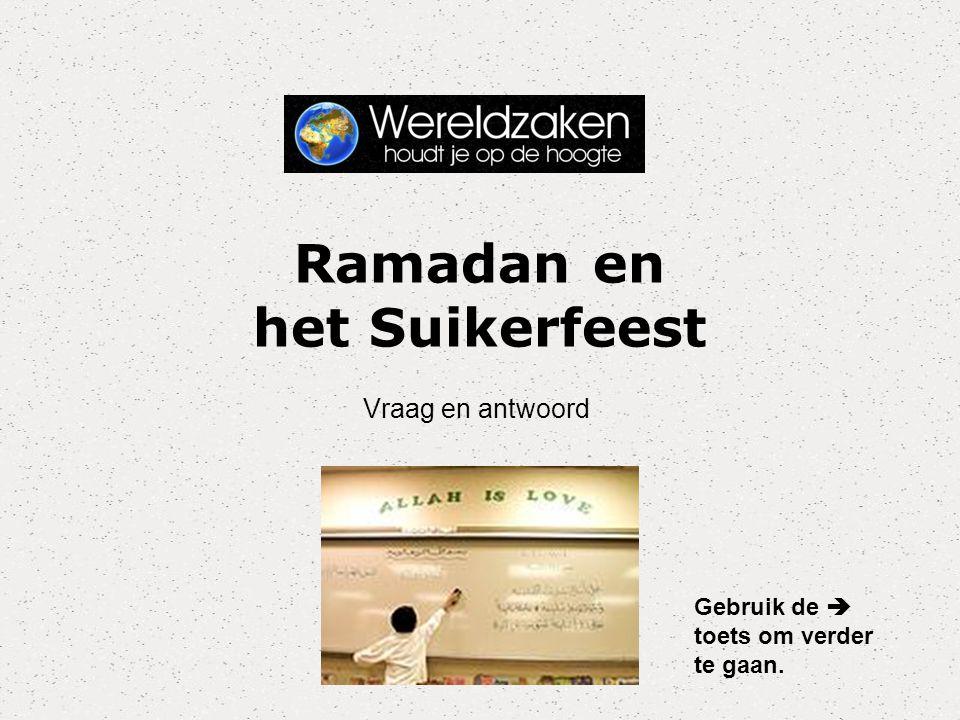 Ramadan en het Suikerfeest