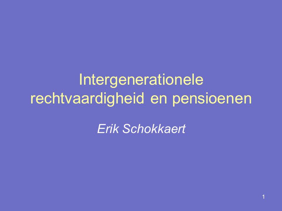 Intergenerationele rechtvaardigheid en pensioenen