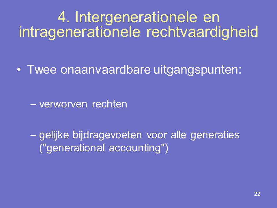 4. Intergenerationele en intragenerationele rechtvaardigheid