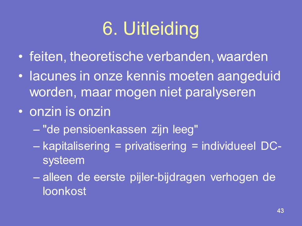 6. Uitleiding feiten, theoretische verbanden, waarden