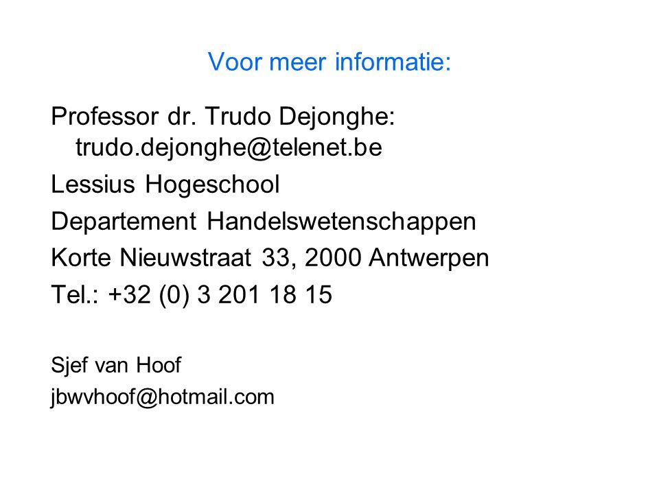 Professor dr. Trudo Dejonghe: trudo.dejonghe@telenet.be