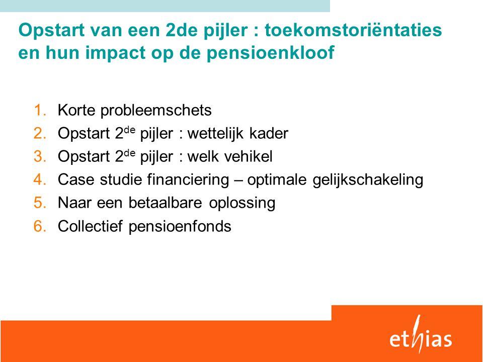 Opstart van een 2de pijler : toekomstoriëntaties en hun impact op de pensioenkloof