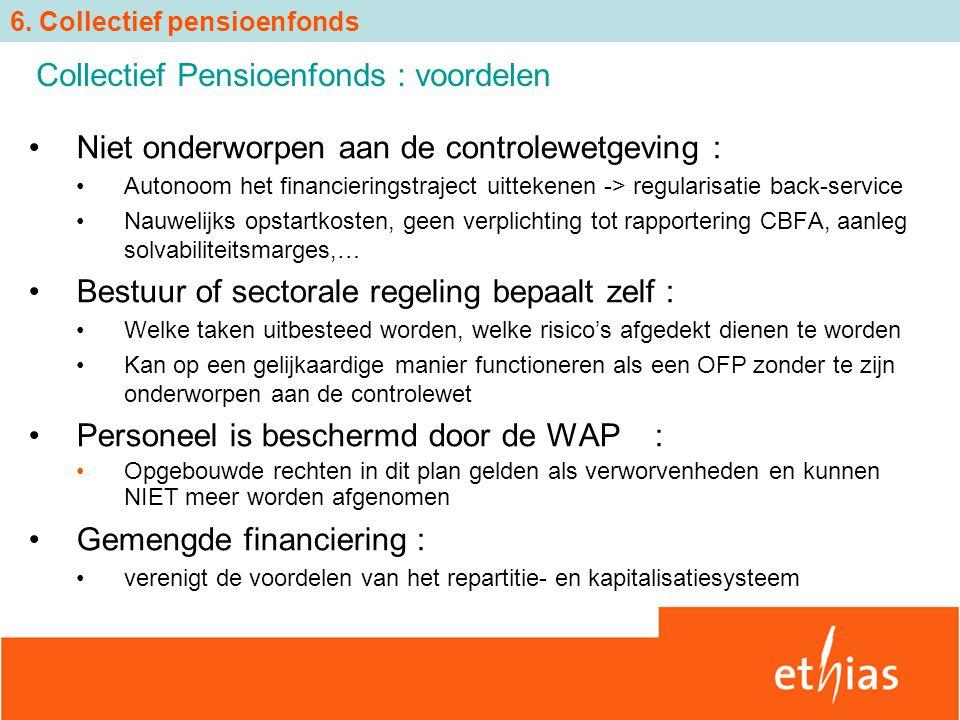Collectief Pensioenfonds : voordelen