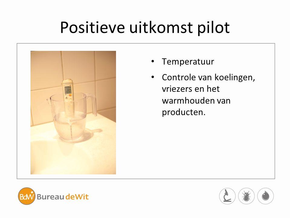 Positieve uitkomst pilot