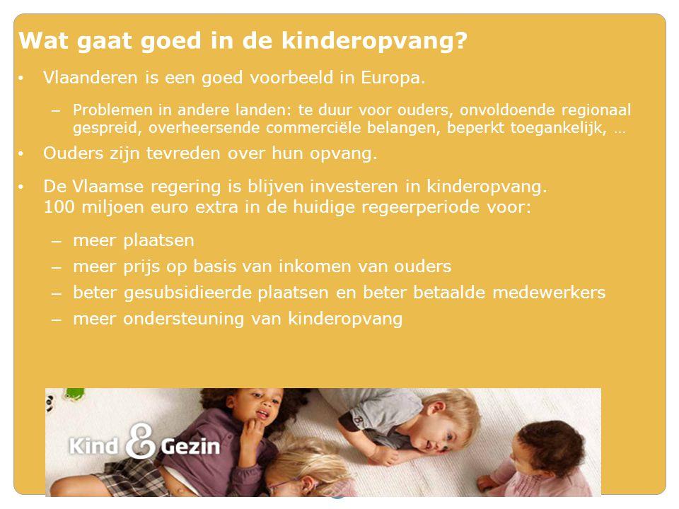 Wat gaat goed in de kinderopvang