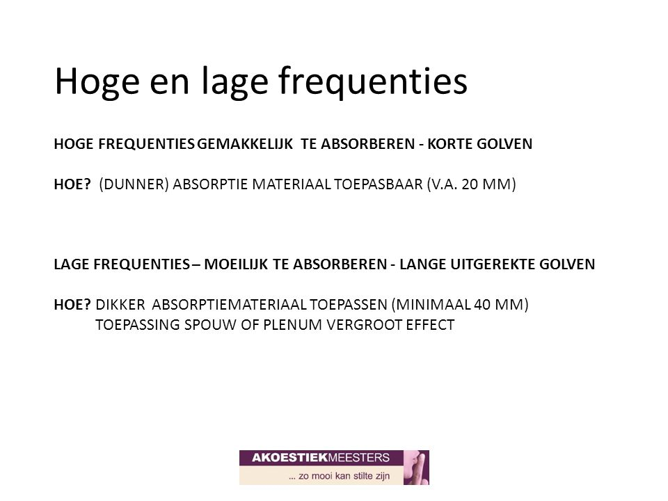 Hoge en lage frequenties
