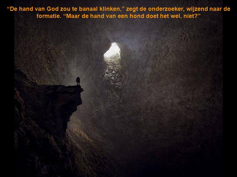De hand van God zou te banaal klinken, zegt de onderzoeker, wijzend naar de formatie.
