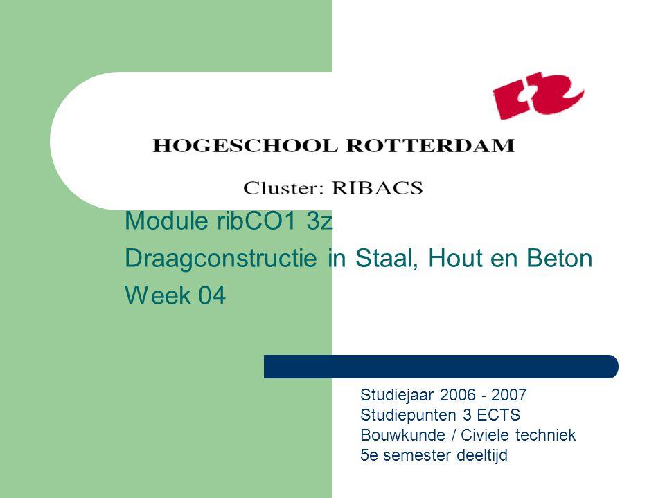 Module ribCO1 3z Draagconstructie in Staal, Hout en Beton Week 04