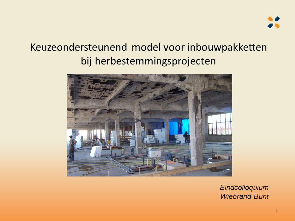 Keuzeondersteunend model voor inbouwpakketten bij herbestemmingsprojecten