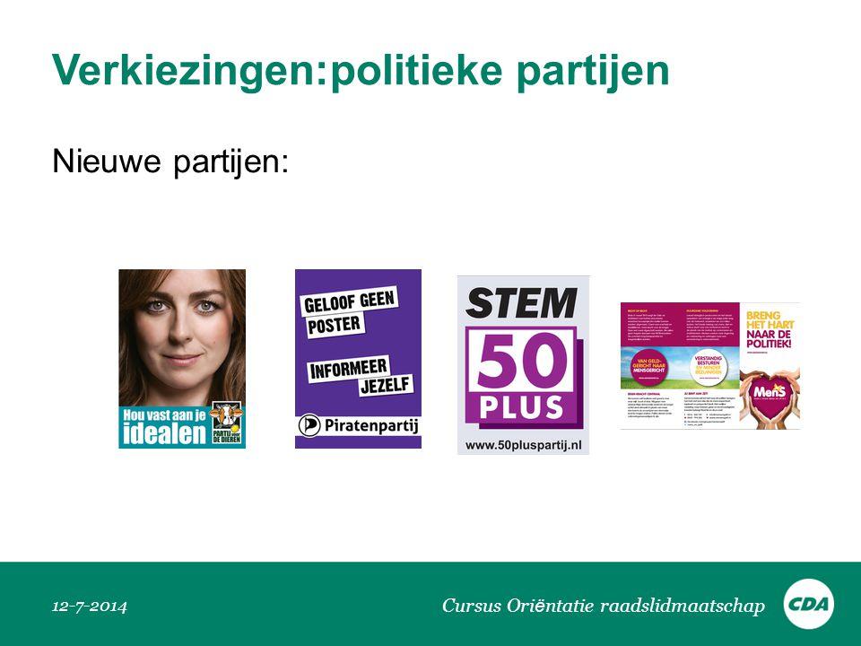 Verkiezingen:politieke partijen